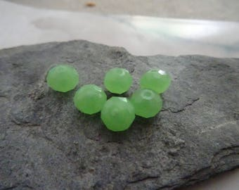 6mm Crystal faceted opaque 6perles ideal for creating