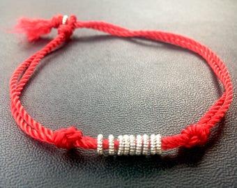 Red String Friendship Bracelet. Red String of Fate. Couples string bracelets.