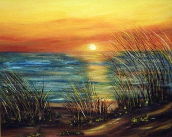 "Painting on canvas ""Sunset"""