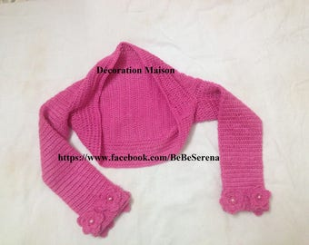 Bolero crochet baby spring flowers