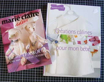 Set of 2 books - sewing and knitting - clothes and baby accessories