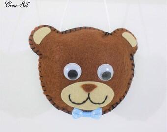 """Suspension """"Teddy bear head"""" boy"""