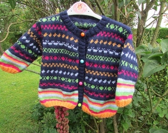 Multicolor vest handmade baby