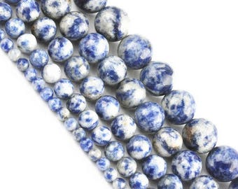 10 x 5 mm sodalite round bead