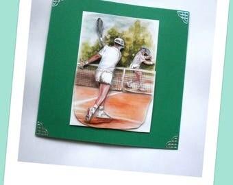 12 sport tennis tournament greeting card