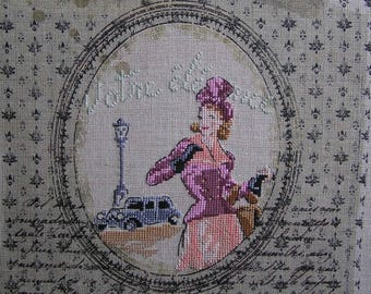 Elegant beige embroidery