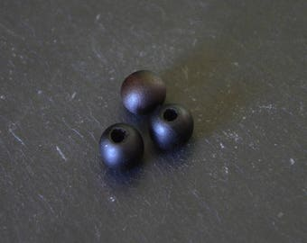 Lot 50 oiled wood 9mm beads