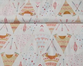 Fabric patterns tepees, Dreamcatcher Studio E 25 x 110 cm collection
