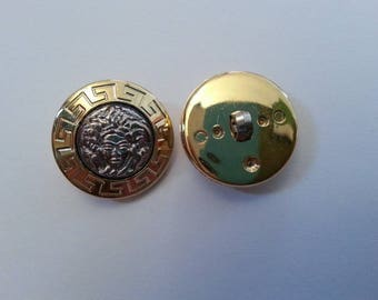 Set of 2 vintage 40s (face Gold/Silver) buttons