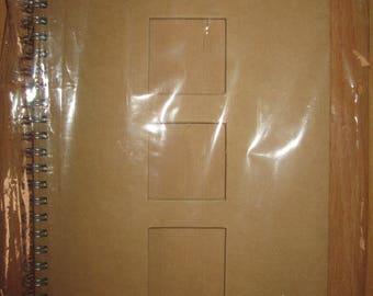 Book A5 blank cardboard 21.5 x 15cm
