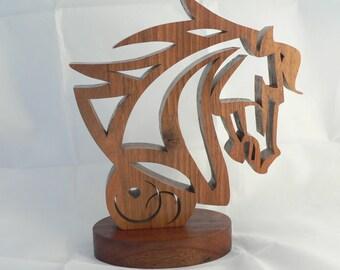 Woodcut horse head