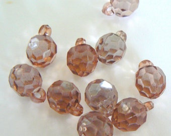 beads charms Brown transparent 10 x 1 mm diam.