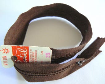 Brown 25cm zipper Prestil Nylon No. 20 50-70 years