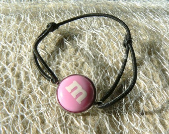 M bracelet & me s pink knot sliding belly cabochon 14mm