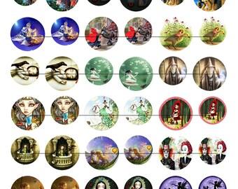Digital images for cabochon or storybook image transfer