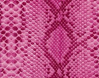 Sheet 30 x 40 cm - pink reptile skin N 210 - Ref FDA210 Decopatch