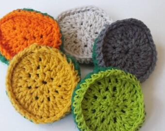 Handmade Crochet Double Sided Scrubbies Scrubber-green net