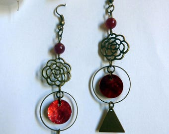 Earrings red graphic Suddenly
