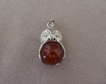 set of 12 OWL Brown ball pendants