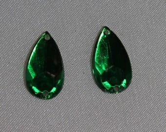 drop-16 mm Green rhinestone