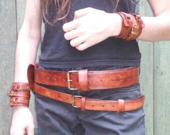 LEATHER - lined belt Bell belt