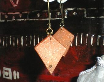 Stud Earrings diamond marble