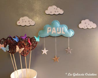 Cloud personalized with child's name