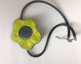 Raku pendant
