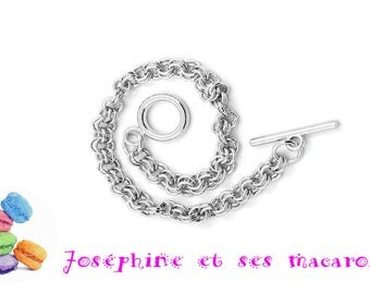 Chain 1 bracelet 21cm Toggle clasp