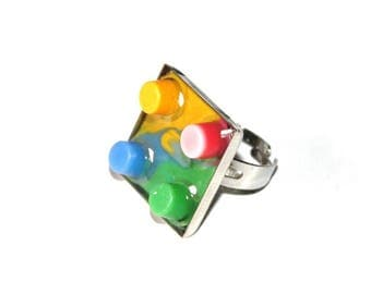 Recycled plastic ring and resin