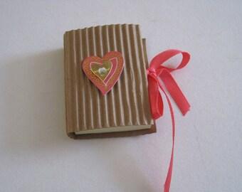 Mini Notepad, Notepad, memo pad, heart, 3D
