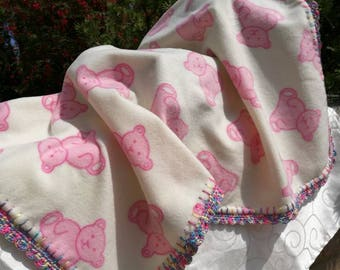 Pink Teddy, multi coloured