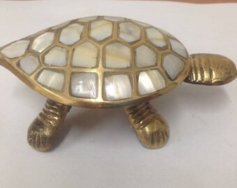 BRASS TORTOISE is made for antiques with perl