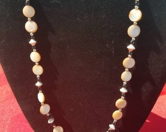 Shinny Pink Salmon Pearl Necklace