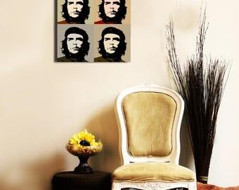 Pop art painting, Che guevara 40 x 40