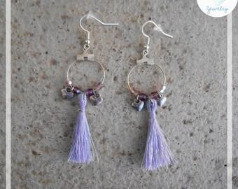 Marshmallow heart hoop earrings