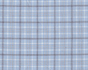 Cotton Plaid / Prince of Wales sky by 50cm x 150cm width
