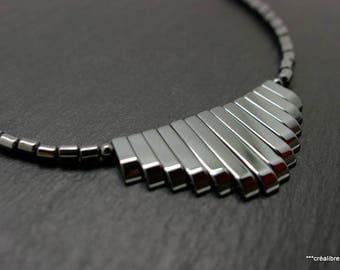 1 Hematite stone necklace