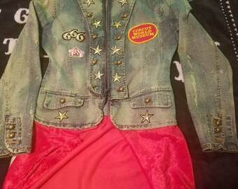One of a Kind Acid Washed Devils Carnival/Twisted Circus Ringmaster Jacket!!!