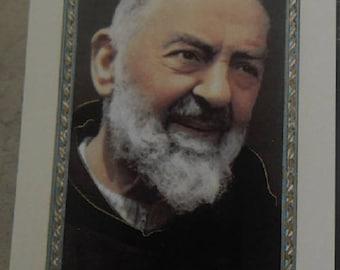 Padre Pio 11.5 cm x 6,5 cm pious image