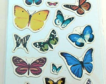 STICKERS for computer * Butterfly * plank: 12.5 cm x 7,5 cm EAN 3045677575090