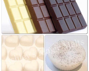 5 Chocolate scented soy wax melts, sweet melts, cheap wax melts, wax melt tarts, bakery wax melts, highly scented wax, scented gifts for her
