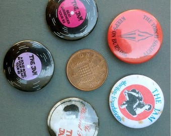 Group of Original Paul Weller and the Jam related Badges