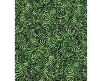 patchwork fabric Zebra black and green 12010812