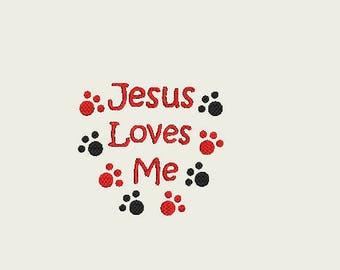 Jesus Loves Me Paws