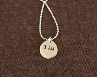 The Original I Am Necklace Silver
