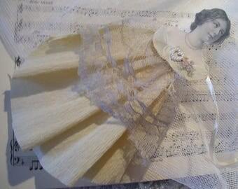 Dekoanhänger paper, vintage, handmade