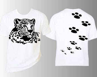 JAGUAR print on the front and back t-shirt