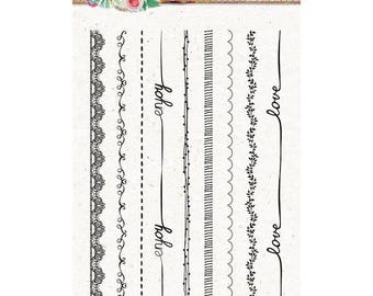 A6 borders Sweet romance - STAMPSR130 clear stamp