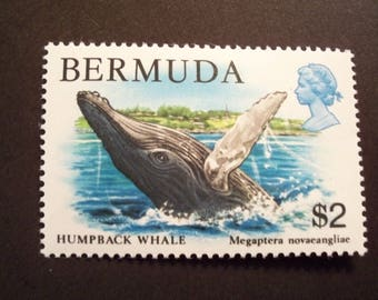 """The Famous """"HumpBack Whale"""" 2 Dollar Stamp from Bermuda**1978 Scott #377 MNH*"""